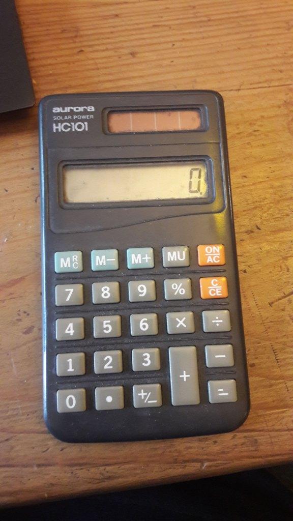 An image of Hilary's chosen object - an old Aurora calculator